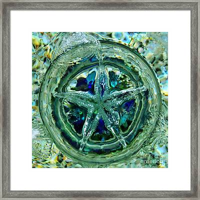 Refraction Blue Framed Print