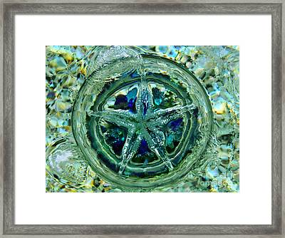 Refraction Blue Landscape Framed Print