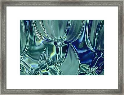 Refraction Flower Landscape Framed Print