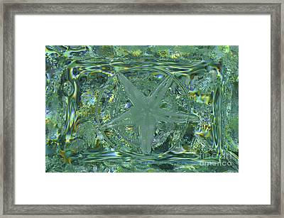Refraction Rectangle Landscape Framed Print