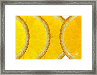 Refreshing Orange Slices  Framed Print by Natalie Kinnear
