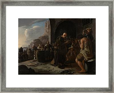 Refreshing The Thirsty, Michael Sweerts Framed Print by Litz Collection