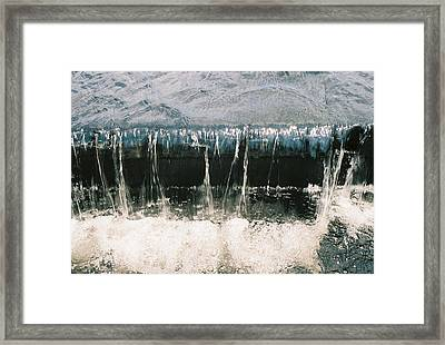 Framed Print featuring the photograph Refreshing Waterfall by Ramona Whiteaker