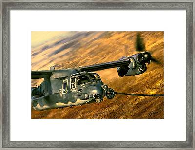 Framed Print featuring the painting Refueling by Dave Luebbert
