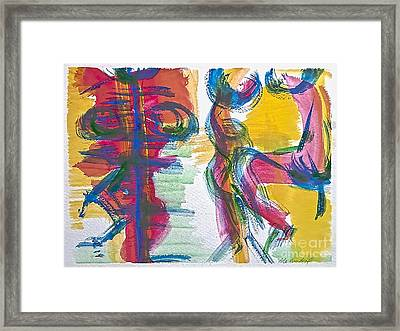 Refugee From The Past  Framed Print