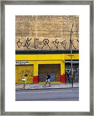 Refugio - Sao Paulo Framed Print