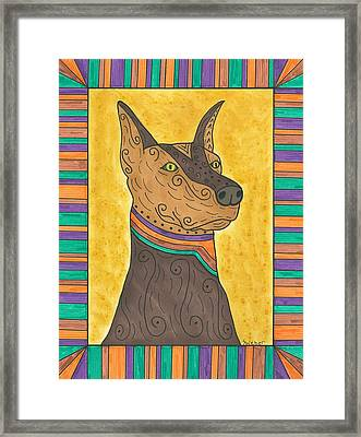 Regal Doberman Framed Print