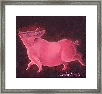 Regal Hog Framed Print by Heather Stinnett