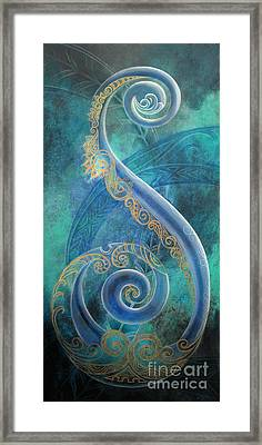 Regal Koru Framed Print by Reina Cottier