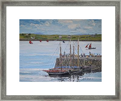Regatta At Roundstone Harbour Connemara Framed Print