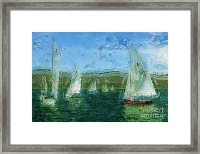 Framed Print featuring the photograph Regatta Day by Julie Lueders