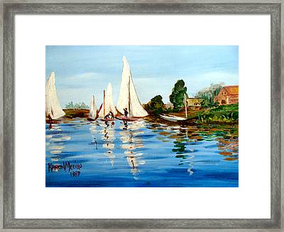 Regatta De Argenteuil Framed Print by Karon Melillo DeVega