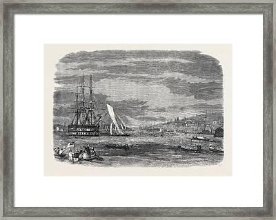 Regatta In Halifax Harbour Nova Scotia Sailing Match Framed Print