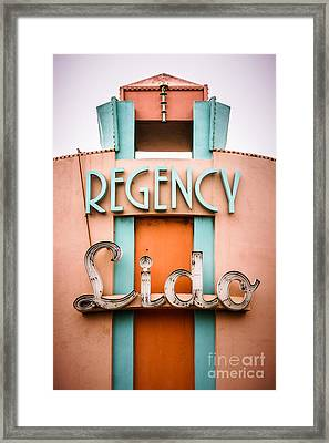 Regency Lido Theater Newport Beach Picture Framed Print by Paul Velgos