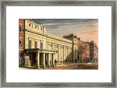 Regency Theatre, London, 1826 Framed Print