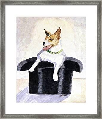 Reggie In A Top Hat  Framed Print by Angela Davies
