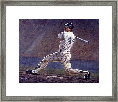 Reggie Jackson Framed Print by Gregory Perillo
