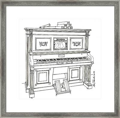 Regina Player Piano Framed Print