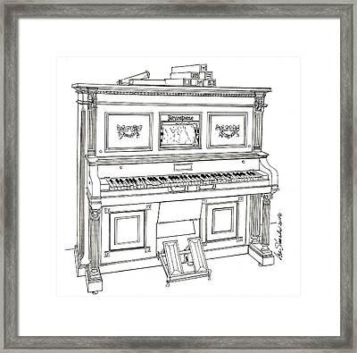 Regina Player Piano Framed Print by Ira Shander