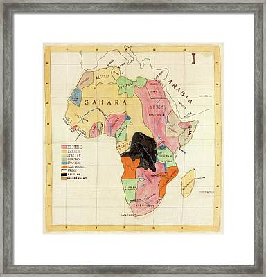 Regions Of Africa Framed Print by Library Of Congress, Geography And Map Division