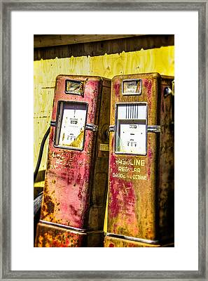 Framed Print featuring the photograph Regular Gasoline by Steven Bateson