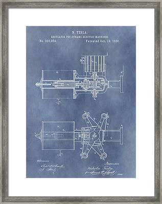 Regulator For Dynamo Electric Machine Patent Framed Print