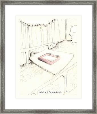 rehab with Etch-A-Sketch Framed Print by Alan McCormick