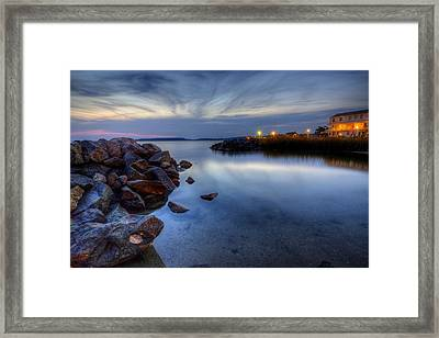 Rehoboth Bay Sunset At Dewey Beach Framed Print