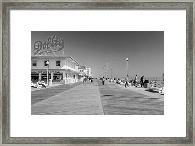 Rehoboth Beach Boardwalk Framed Print