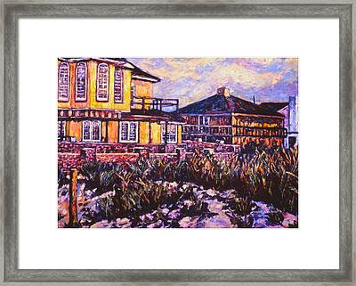Rehoboth Beach Houses Framed Print