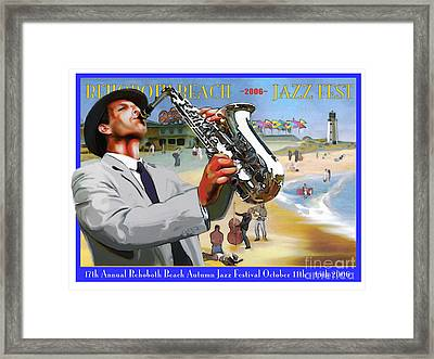 Rehoboth Beach Jazz Fest 2006 Framed Print by Mike Massengale