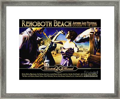 Rehoboth Beach Jazz Fest 2009 Framed Print by Mike Massengale