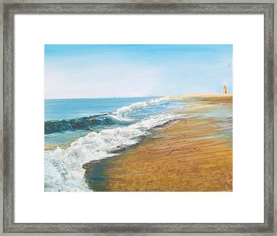 Rehoboth Beach Sunrise Framed Print