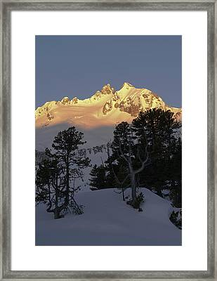 Reichenspitze Mountain Range Framed Print by Martin Zwick