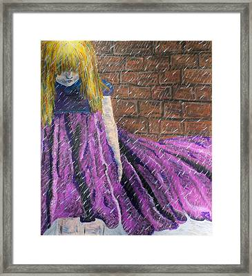 Reign Framed Print by Amanda Just