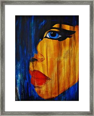 Framed Print featuring the painting Reign Over Me 3 by Michael Cross