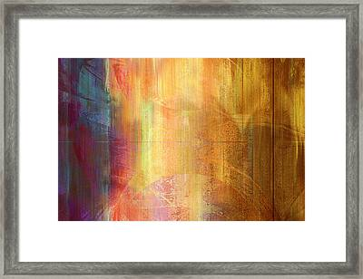 Framed Print featuring the mixed media Reigning Light - Abstract Art by Jaison Cianelli