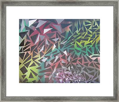 Reigning Triangles Framed Print