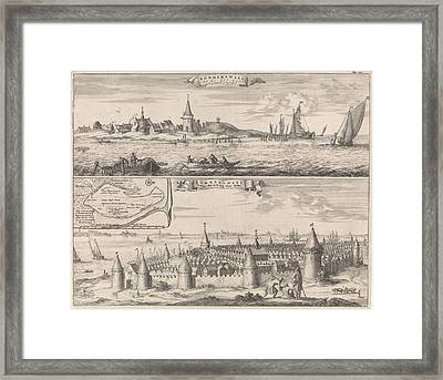 Reimerswaal In Past And Present Times, 1634 Framed Print by Jan Luyken And Johannes Meertens And Abraham Van Someren
