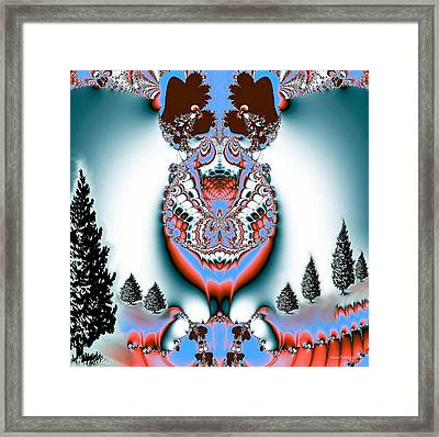 Reindeer Blues Framed Print by Maria Urso