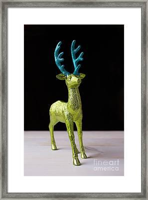 Reindeer Christmas Card Framed Print