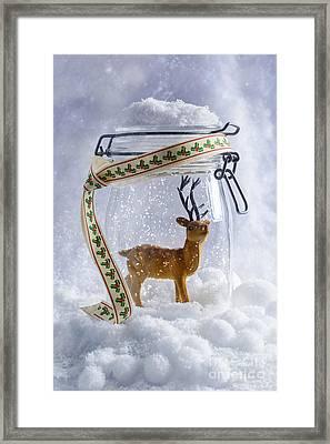 Reindeer Figure Framed Print by Amanda Elwell