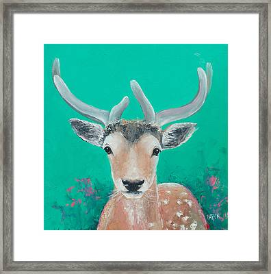 Reindeer  Framed Print by Jan Matson