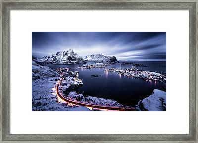 Reine Blue Hour Framed Print