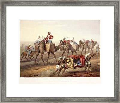 Reinforcements Proceeding To Delhi Framed Print by British Library
