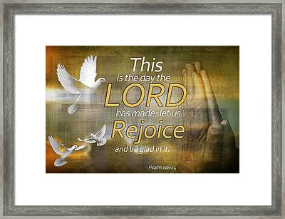 Rejoice Framed Print by Davina Washington