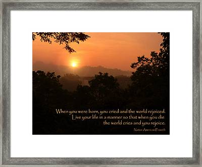 Rejoice - How To Live Your Life Framed Print