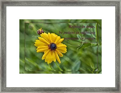 Rejoice In Hope Framed Print
