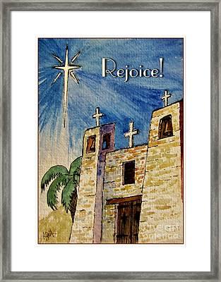 Rejoice Framed Print by Marilyn Smith