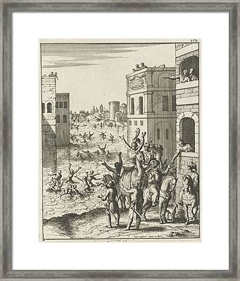 Rejoicing Of The People In Cairo, Egypt, Print Maker Jan Framed Print